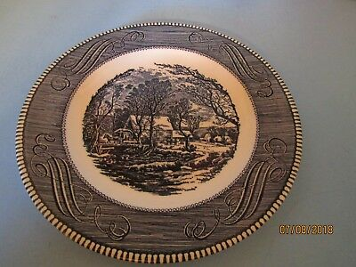 """CURRIER AND IVES Royal China 10"""" DINNER PLATE """"THE OLD GRIST MILL"""" (20 Available"""