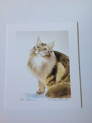 Drew Strouble cat art print, THE CHARMER, Catmandrew cat artist, 6 x 7 inches