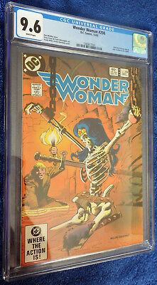 Wonder Woman #298 CGC 9.6 White pages - Frank Miller Giordano skeleton cover!