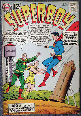 Superboy #100 - Ma and Pa Kent's Incredible Delusion!