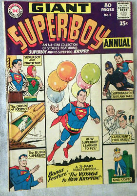 Superboy Annual #1 1964 Nice copy!
