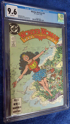 Wonder Woman #36 CGC 9.6 White pages Beautiful Marrinan and Perez cover!