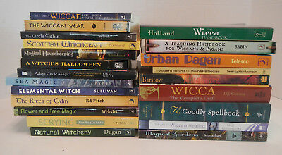 NICE COLLECTION LOT of 22 Pagan / Witch / Witchcraft / Wiccan / Magick Books