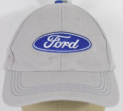 Gray Ford Motor Company Logo Automaker Embroidered Baseball Hat Cap Adjustable
