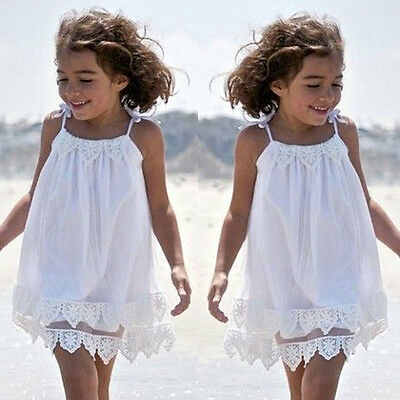 AU Infant Baby Kid Girl Summer Lace Dress Party Wedding Pageant Princess Clothes