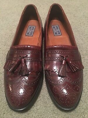 Vtg Bostonian wingtip loafers 10.5D Made in USA & Goodyear welted