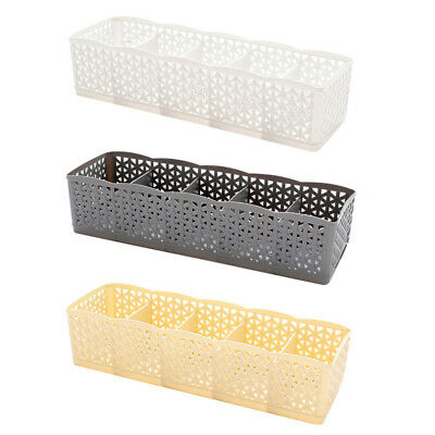 5Cells Plastic Organizer Storage Box Tie Bra Socks Cloth Drawer Cosmetic Divider