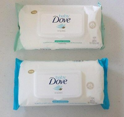 Dove Baby Wipes Rich Moisture Or Sensitive Moisture 30 Wipes Each