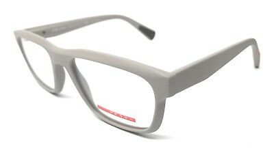 12fb73d53bc4 New Prada Vps07G Ufo-1O1 53Mm Matte Gray Authentic Eyeglasses Italy Rx-Able