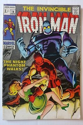 Iron Man 14 Silver Age 1969 First Night Phantom NF Condition