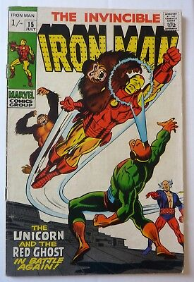 Iron Man 15 Silver Age 1969 NF Condition