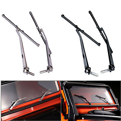 Left & Right Metall Windshield Wiper For 1/10 Traxxas TRX4 Land Rover Defende RC