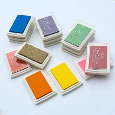 DIY Craft Multi Colors Ink Pad Oil For Rubber Stamp Paper Wood Fabric Durable