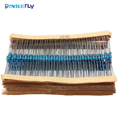 1/4w Resistance 1% Metal Film Resistor Bag 30 kinds Each 20pcs Total 400/600pcs