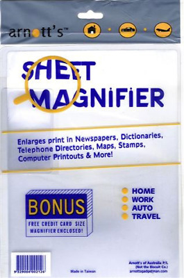 A4 & Credit Card Size Sheet Magnifier