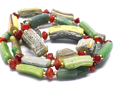 Authentic Ancient Roman Glass Beaded Necklace No:5