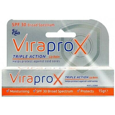 Viraprox Triple Action Lip Balm 15g Helps Protect Against Cold Sores