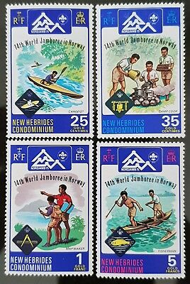 New Hebrides 1975 Sc #  197 to Sc # 200 Nord Jamb Scout Jamboree Mint Stamps Set