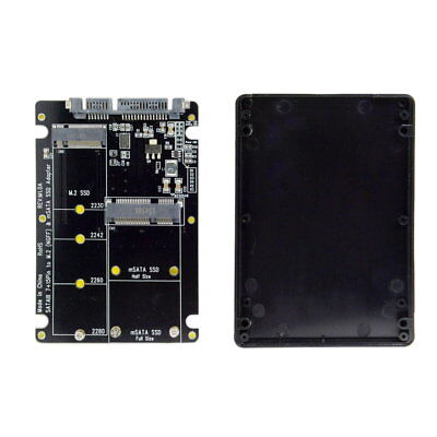 mSATA SSD& 2 in 1 Combo M.2 NGFF B-key to SATA 3.0 Adapter Converter Case GL