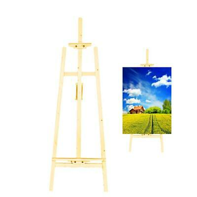 Easel Adjustable Artist Wooden Stand Painters Dispaly w/ Drawing Art Supplies