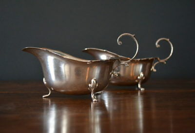Pair of Sterling Silver Sauce Boats - Birmingham 1958