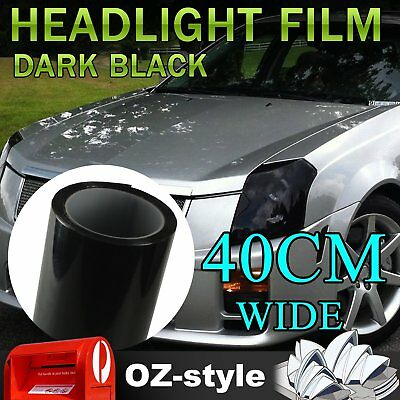 2pcs 60CM x 40CM Dark Black Car Truck Headlight Fog Taillight Tint Film Stickers