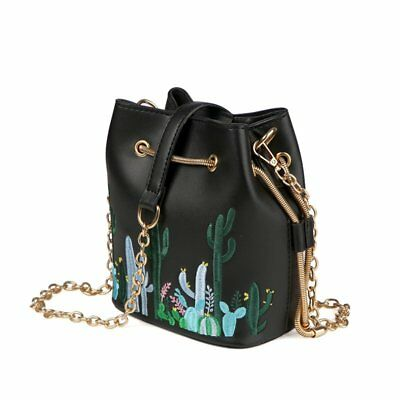 PU Leather Embroidery Chain Shoulder Bags Shoulder & Crossbody Handbags X4I2