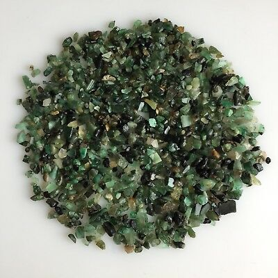 Natural Emerald Scoop Sawed Rough Raw Gemstone Loose Mineral Lot Unassorted