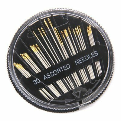 30pcs Assorted Hand Sewing Needles Embroidery Mending Craft Quilt Sew Case V6B8