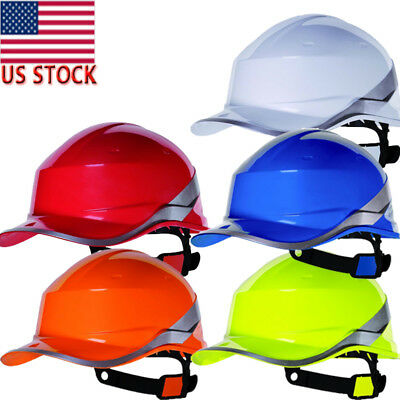 Delta Plus Diamond V Hard Hat Safety Helmet High Hi Vis Viz Baseball Reversible