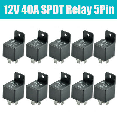 10Pcs Car SPDT Relay DC 12V 5 Pin  5P 40A 40 Amp Relays AU Stock 2018