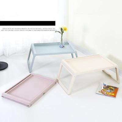 Laptop Table Notebook Desk Plastic Foldable Folding Bed Table Computer Desk !-,