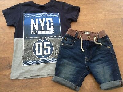 100% Next Boys Small Summer Bundle / Outfit 7Yrs Top Shorts