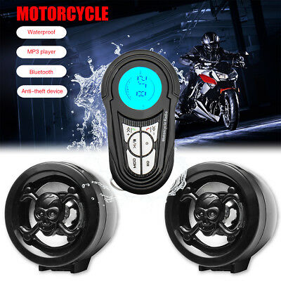 Motorcycle Bluetooth Audio System Radio Sound Stereo Speakers USB MP3 Waterproof
