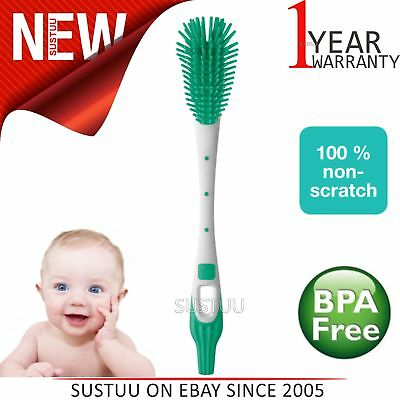 MAM Baby Bottle & Teat Cleaning  Brush│Non-Scratch Bristles│Easy & Soft│BPA-Free
