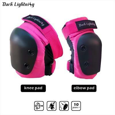 Dark Lightning Knee pad and Elbow pads 2 in 1 Protective Gear Set, for boys and