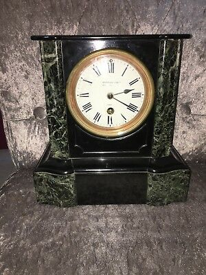 Marble mantle Clock By Camerer Kuss Oxford London