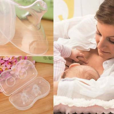 2pcs Shell Soft Silicone Nipple Shield Protector Baby Breast Milk Feeding Supply