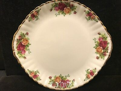 Vintage Royal Albert Old Country Roses Large Cake Plate Made In England