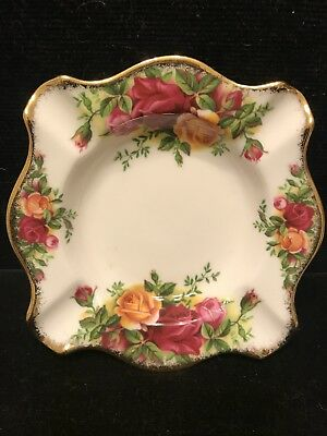 Vintage Royal Albert Ashtray Old Country Roses Made In England