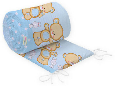Crib Baby Bumper Straight Allround Nursery Bedding To Fit 90X40