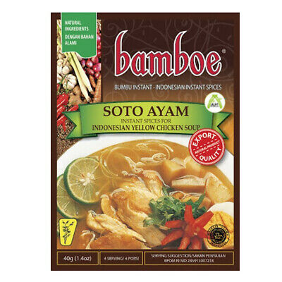Bamboe Soto Ayam Oriental Yellow Chicken Clear Soup Instant Seasoning 40gr Halal