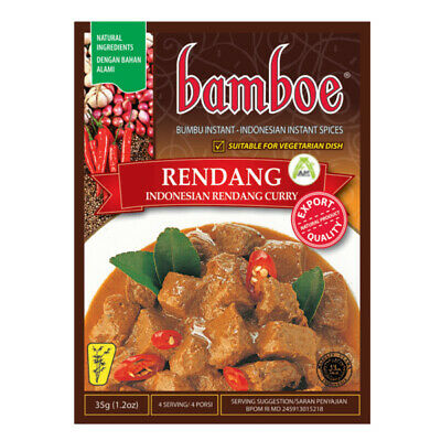 Bamboe Rendang Curry Authentic Indonesian Instant Cooking Seasoning 35g Halal