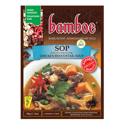 Bamboe Sop Instant Cooking Seasoning for Beef Chicken Oxtail Soup 49g Halal