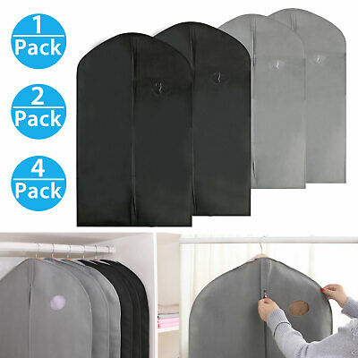 1/2/4X 40-inch Garment Bag for Suit Dress Jacket Storage with Transparent Window