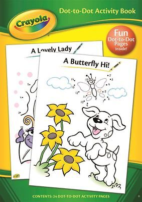 Crayola Dot to Dot Fun Childrens Colouring Activity Book 24 Pages
