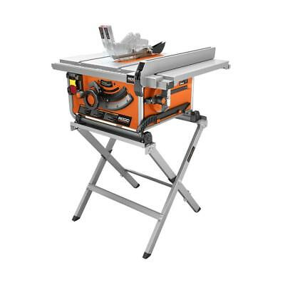 """Rigid 10"""" Compact Table Saw w/ Stand"""