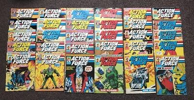 ACTION FORCE 1987 / 88 - Marvel Comic's - Bundle / Joblot