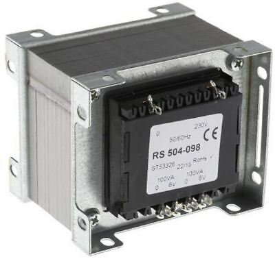 RS Pro 200VA 2 Output Chassis Mounting Transformer, 6V ac