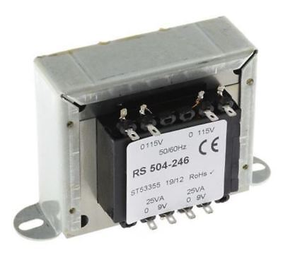 RS Pro 50VA 2 Output Chassis Mounting Transformer, 9V ac